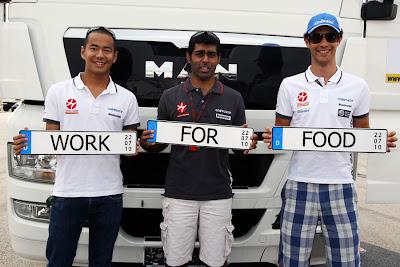 работаю за еду (work for food) на Гран-при Германии 2010