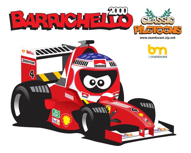 Рубенс Баррикелло Ferrari 2000 pilotoons
