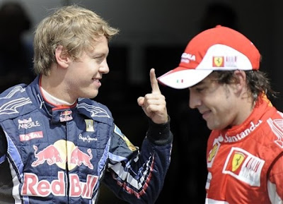 Себастьян Феттель на поуле Гран-при Германии 2010