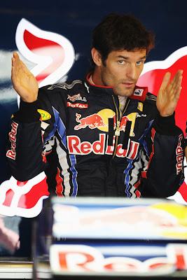 Марк Уэббер на Гран-при Венгрии 2010