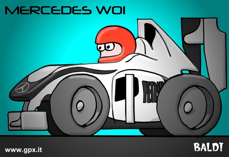 болид 2010 Mercedes GP W01