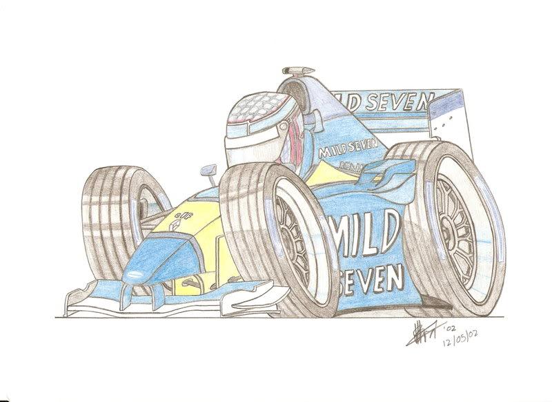 рисунок Дженсон Баттон Renault