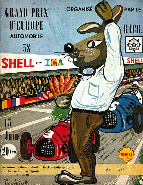 постер к Гран-при Бельгии 1958