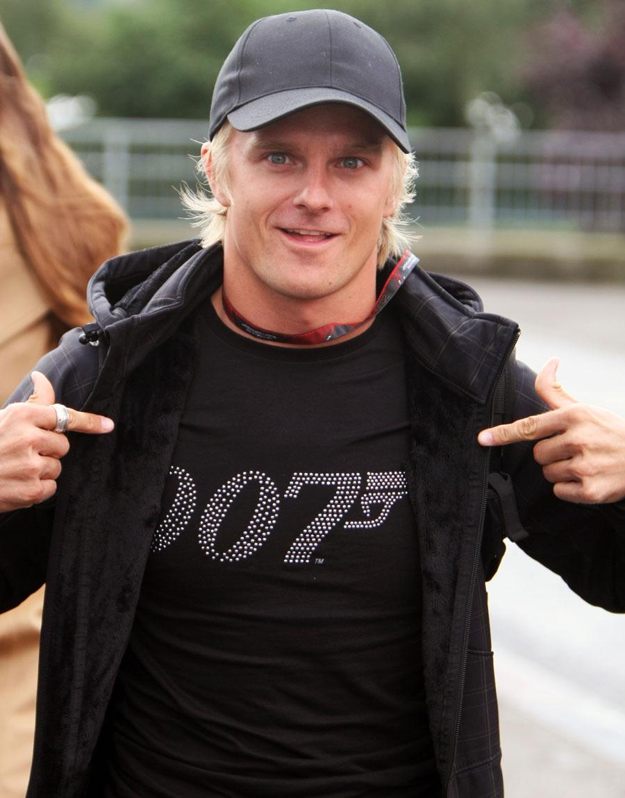 Хейкки Ковалайнен в футболке 007