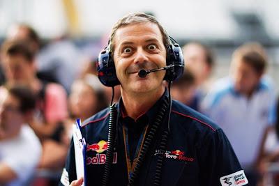Тим-менеджер Scuderia Toro Rosso Gianfranco Fantuzzi на Гран-при Италии 2010