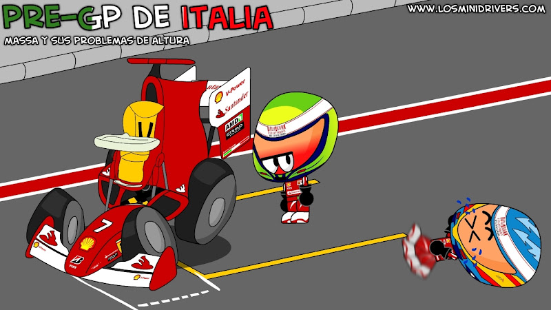 Фелипе Масса и Фернандо Алонсо перед Гран-при Италии 2010