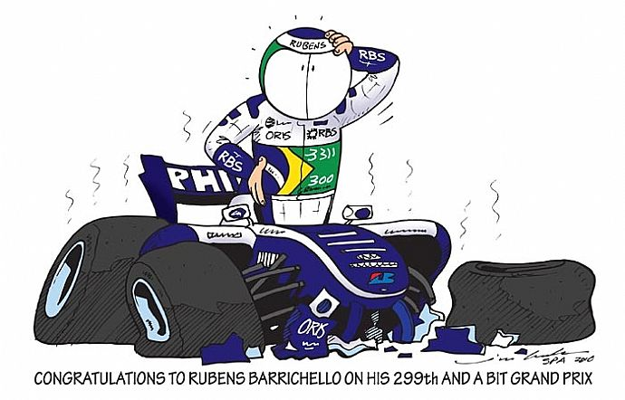 Поздравляем Рубенса Баррикелло с 299-ым и еще чуть-чуть Гран-при
