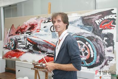 Armin Flossdorf рисует Sauber Камуи Кобаяши на Гран-при Италии 2010