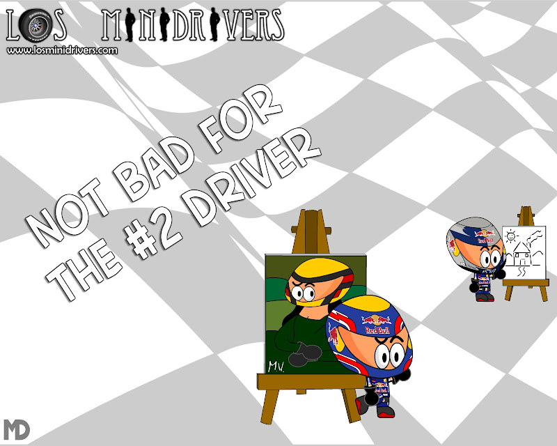 Not bad for the n2 driver Марк Уэббер Себастьян Феттель Los MiniDrivers