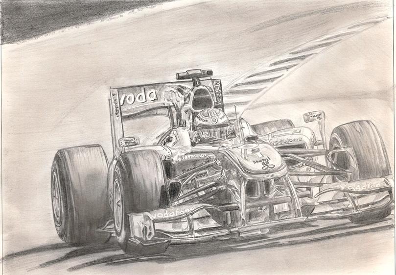 рисунок Дженсон Баттон McLaren