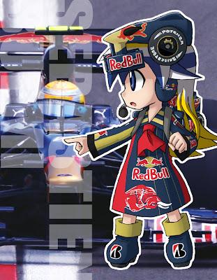 Себастьян Феттель Toro Rosso anime girl