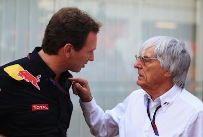 Берни Экклстоун и Кристиан Хорнер на Гран-при Сингапура 2010