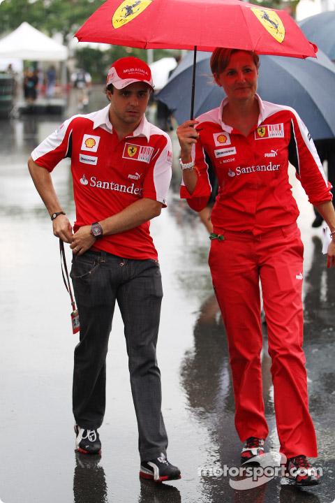 Фелипе Масса на Гран-при Сингапура 2010