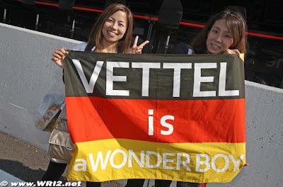 болельщицы Себастьяна Феттеля на Гран-при Японии 2010