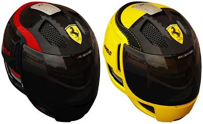 красная и желтая кофеварка Ferrari в виде шлема