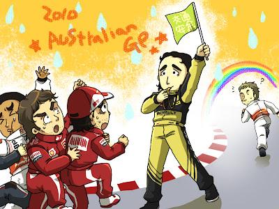 чиби Роберт Кубица Гран-при Австралии 2010