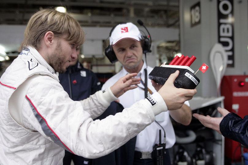 Ник Хайдфельд и параходик Sauber