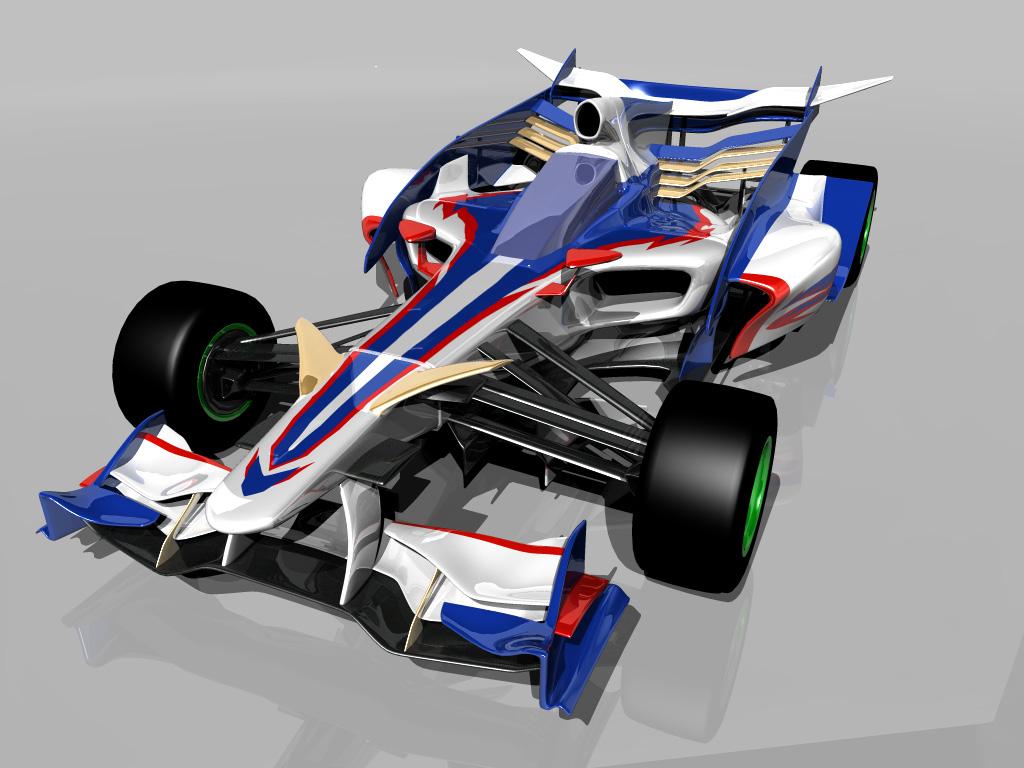 необычный арт болида Формулы-1
