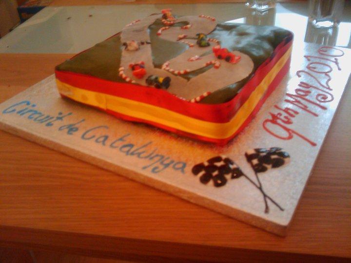 торт трассы Каталуньи в честь Гран-при Испании 2010