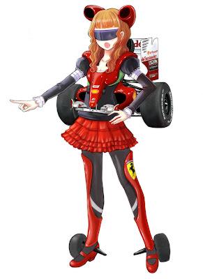 аниме-персонаж Ferrari