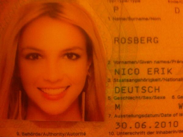 Нико Росберг паспорт Бритни