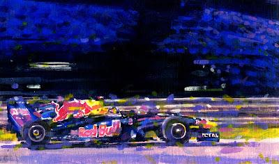 Red Bull Себастьяна Феттеля на трассе Яс Марина Rob Ijbema