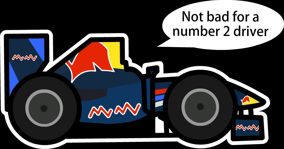Марк Уэббер Red Bull Неплохо для второго номера