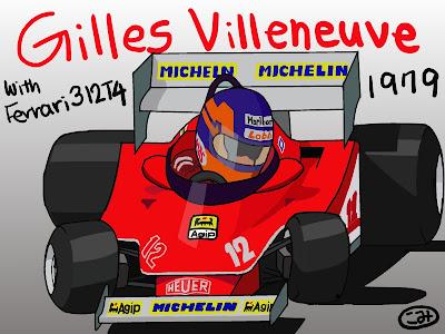 Жиль Вильнев Ferrari 312T4 1979