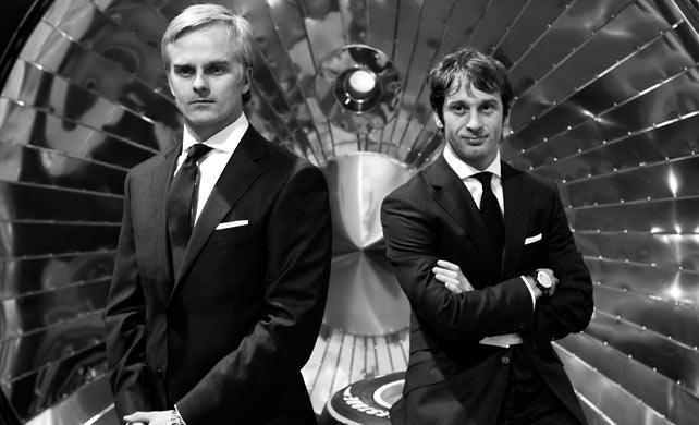 Хейкки Ковалайнен и Ярно Трулли в рекламе мужской одежды Hackett