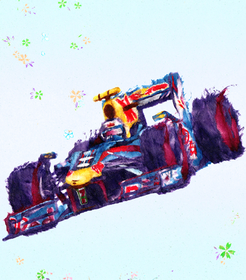 рисунок Себастьян Феттель Red Bull