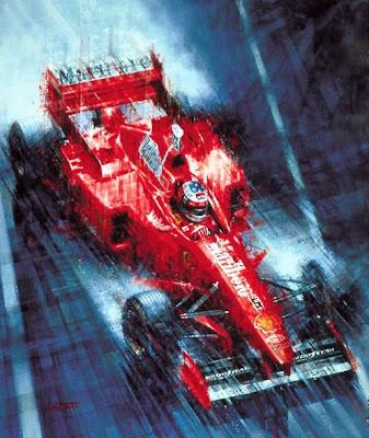 арт Михаэль Шумахер на Ferrari на Гран-при Монако 1997