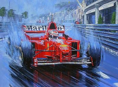 арт Михаэль Шумахер на Гран-при Монако 1997
