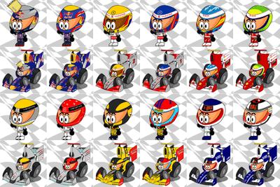 набор аватарок гонщиков Формулы-1 от Los MiniDrivers