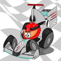 Михаэль Шумахер в болиде Mercedes GP