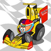 Виталий Петров в болиде Renault