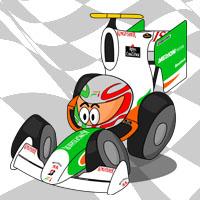 Витантонио Льюцци в болиде Force India
