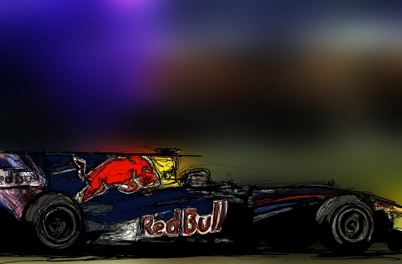 Себастьян Феттель Red Bull RB6 2010 via Motorsport In Print