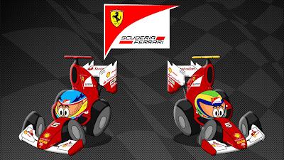 Фернандо Алонсо и Фелипе Масса в Ferrari F150 2011 by Los MiniDrivers