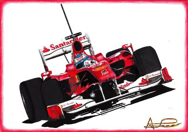 Фернандо Алонсо  Ferrari F10 на предсезонных тестах 2010 by adrilozano