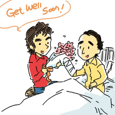 Фернандо Алонсо принес Роберту Кубице цветы Uli