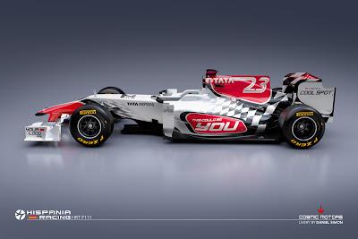 болид HRT F111
