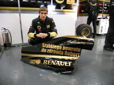 Виталий Петров и Lotus Renault GP желают Кубице скорейшего выздоровления