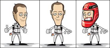 карикатуры Михаэль Шумахер