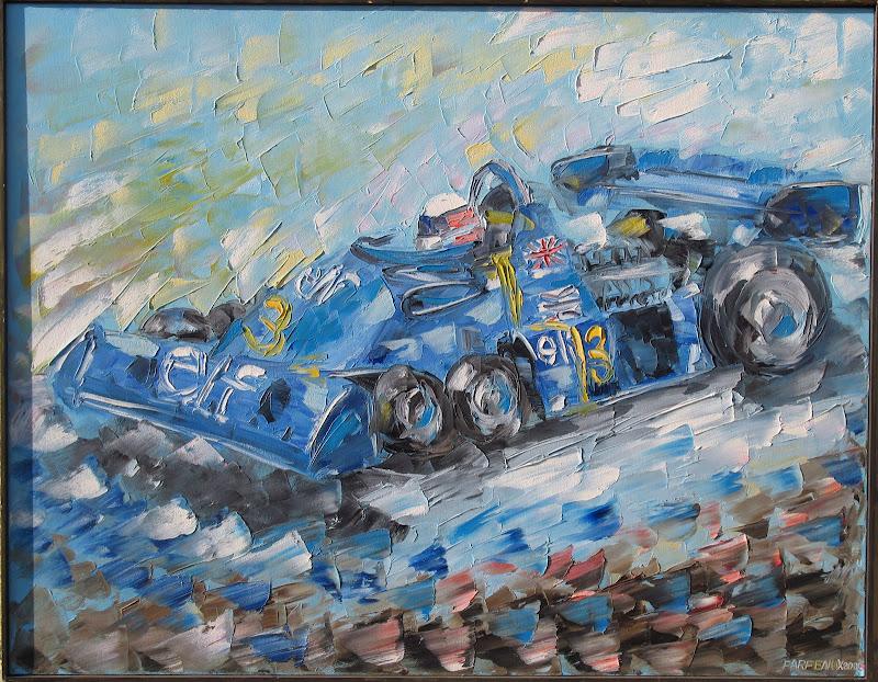 Джоди Шектер Tyrrell P34 1976 Autoartist Sergey Parfenjuk