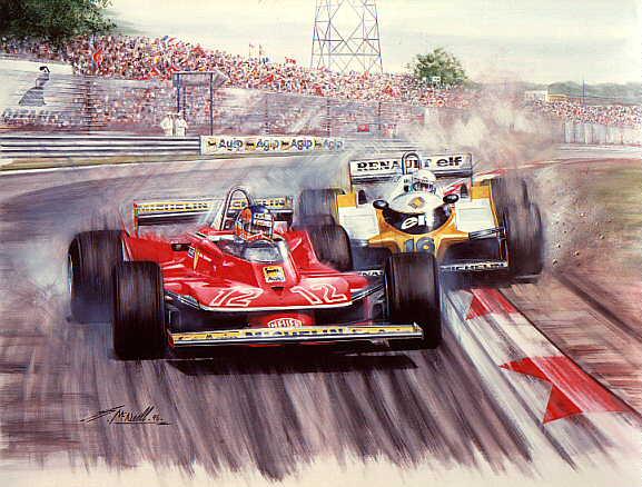 дуэль Жиля Вильнева и Рене Арну на Гран-при Франции 1979