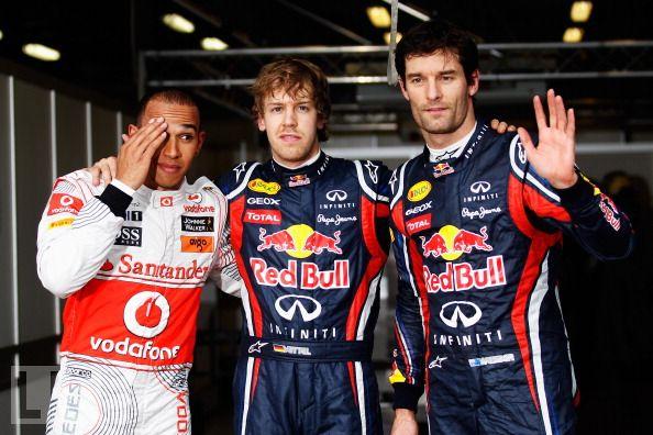 Льюис Хэмилтон фэйспалмит на Себастьяна Феттеля и Марка Уэббера после квалификации на Гран-при Австралии 2011