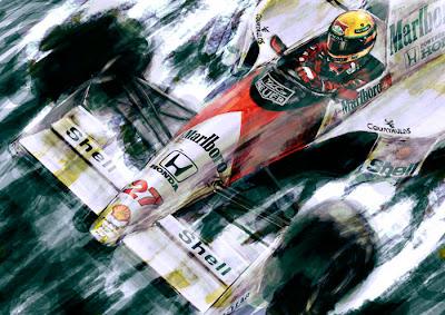 Айртон Сенна McLaren MP4-5B 1990