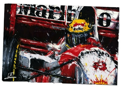 Айртон Сенна McLaren MP4-8 картина посвященная последней победе в карьере на Гран-при Австралии 1993 от  Art Rotondo