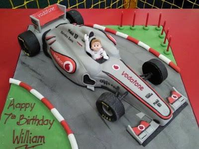 торт McLaren на день рождения 7-ми летнего Уильяма