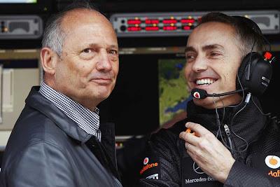 Рон Деннис и Мартин Уитмарш на Гран-при Австралии 2011